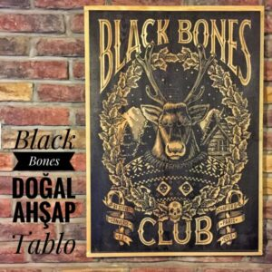 Black Bones Masif Ahşap Tablo