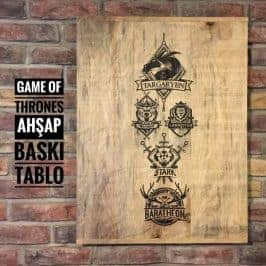 Game Of Thrones Masif Ahşap Tablo